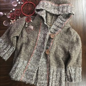 Free People Cropped Wool Crocheted Sweater